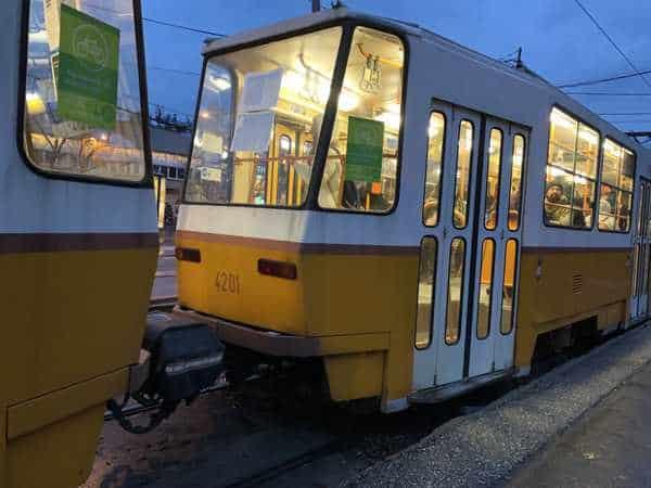 Ride a tram into the city