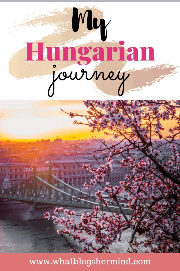 Pinterest graphic about my Hungarian journey